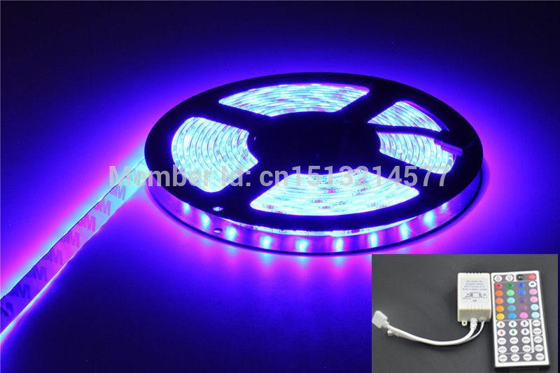15M Waterproof 3528 SMD Outdoor Garden RGB Decoration LED Strip Light 30LEDs/M 450LEDs Bulb Lamp+44 Key IR Remote(China (Mainland))