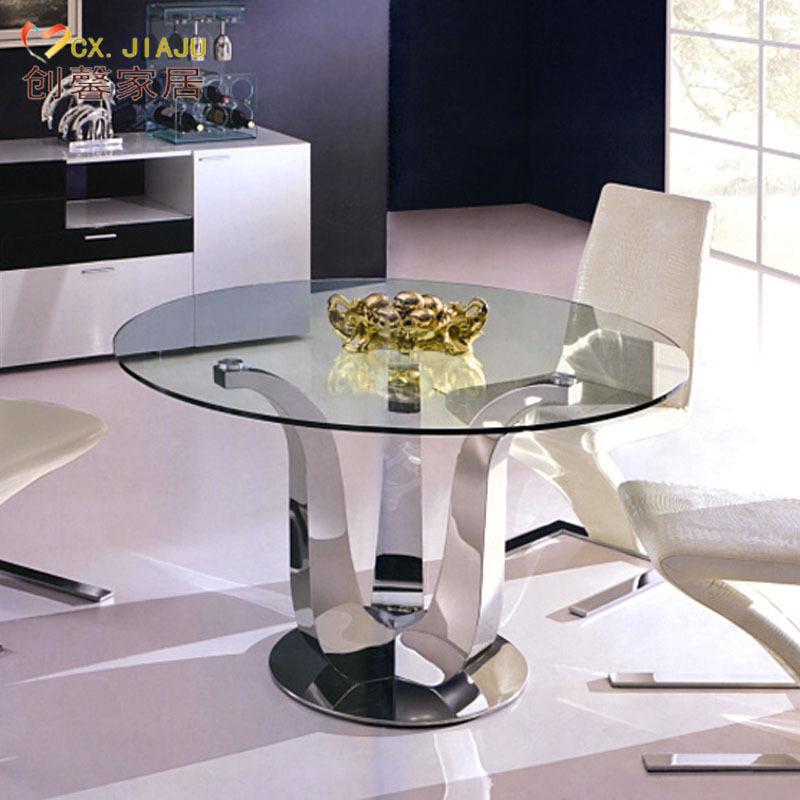 Online kopen wholesale glazen eettafel uit china glazen eettafel groothandel - Stoel rondetafelgesprek ...