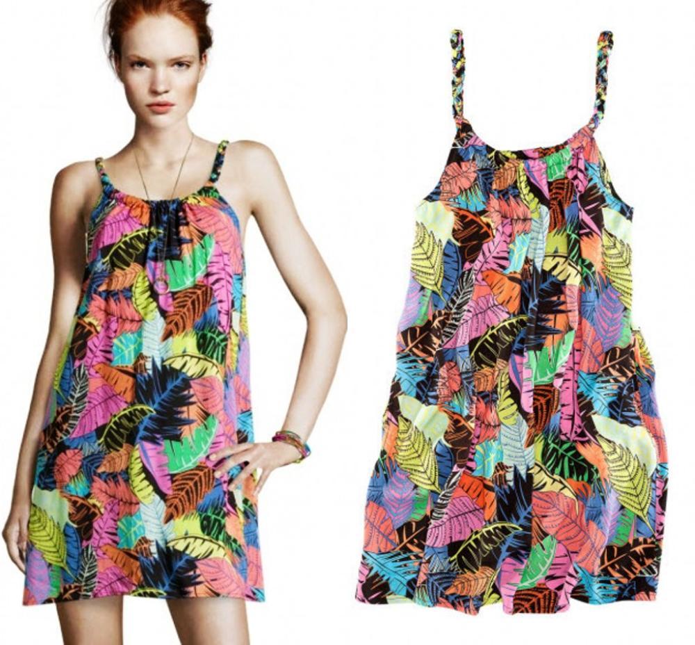 women summer Bohemia honeymoon vacation beach dress loose smock dress Sling Dresses cheap clothes china(China (Mainland))