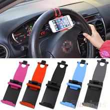 niversal Car Steering Wheel Bike Clip Mount Holder For iphone Phone Samsung GPS