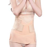 M-3XL Postpartum Recovery Belt Abdomen+Stomach+pelvis band 3 Sets Waist Cinchers Body Shapers Waist Slimming Belly Shapewear