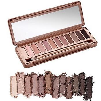 Wholesale Hot!! 2015 new NAKE 3 Makeup Glitter Eyeshadow Palette Latest 12 Color NK3 Brand eye shadow Brush Make up Set(China (Mainland))