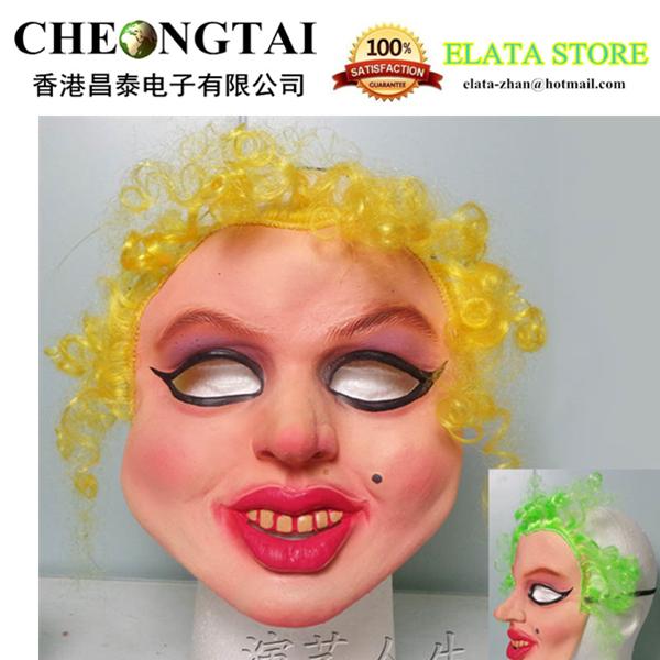 Marilyn monroe mask female latex mask star mask dance party mask Free Shipping(China (Mainland))