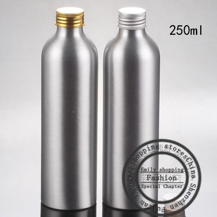 Free shipping 20pcs, 250ml Ordinary Aluminum bottles,mini travel bottles,cosmetic packaging,refillable bottles,perfume bottle(China (Mainland))