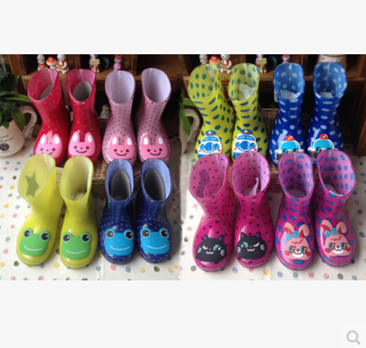 Non-slip rubber boots and water shoes baby girls boys rain boots rubber boots for children(China (Mainland))