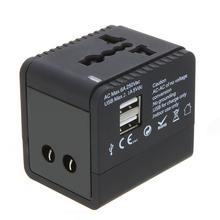 2 USB Ports Universal Worldwide Travel Charger Plug Power Adapter Plug for US UK EU AU JP NZL SG(China (Mainland))
