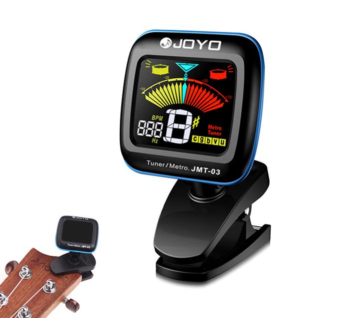 Light-weight JOYO JMT-03 Portable Guitar Tuner Metronome Digital Tuner Clip Mic for Chromatic Guitar Bass Ukulele Violin(China (Mainland))