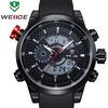 New Arrival WEIDE Military Watches Men Luxury Brand Japan Quartz Analog Digital Display 3ATM Waterproof Men Sports Watch WH3401
