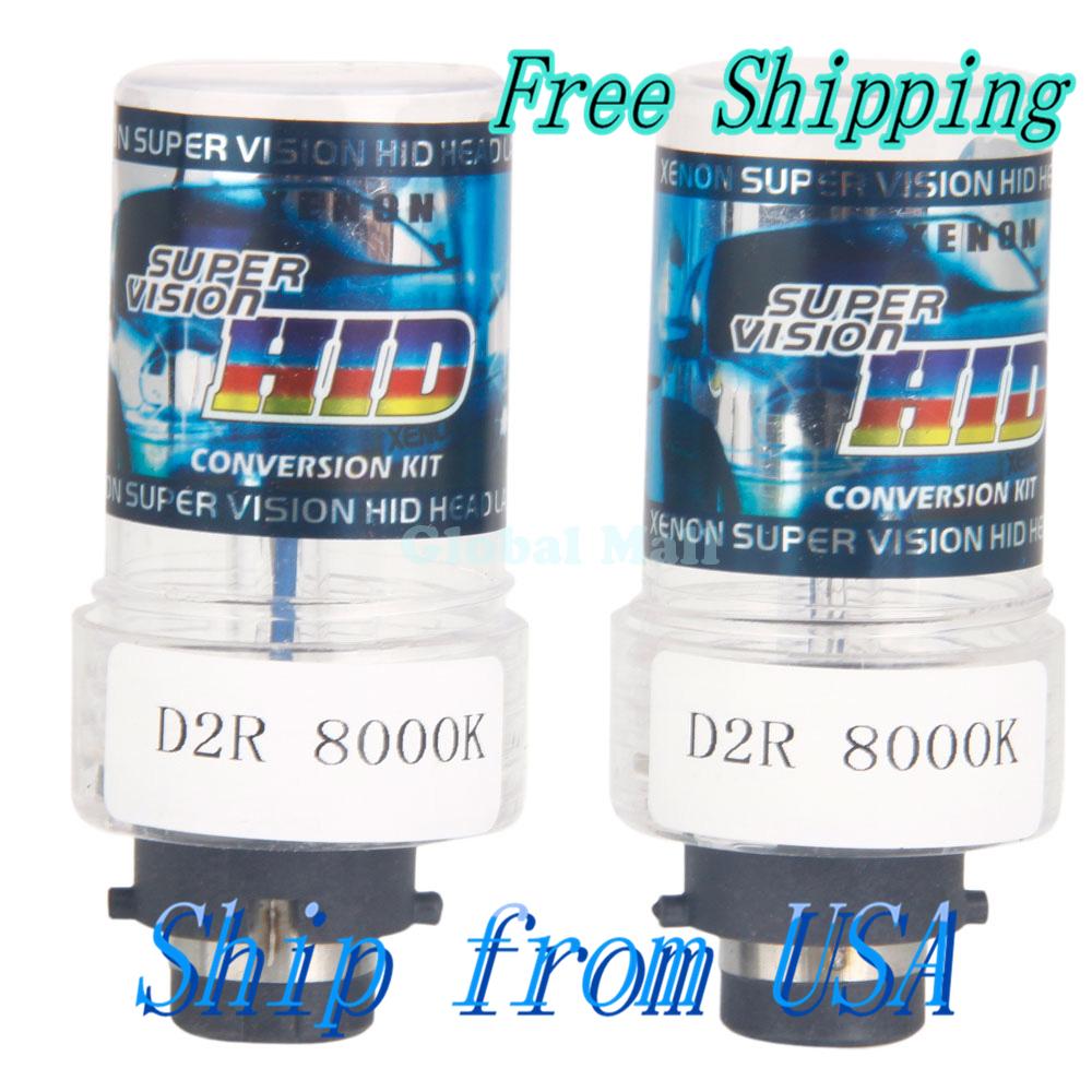Ship From USA D2R 35W 8000K HID Xenon Car Lights Bulbs (Pair) Q01352(China (Mainland))