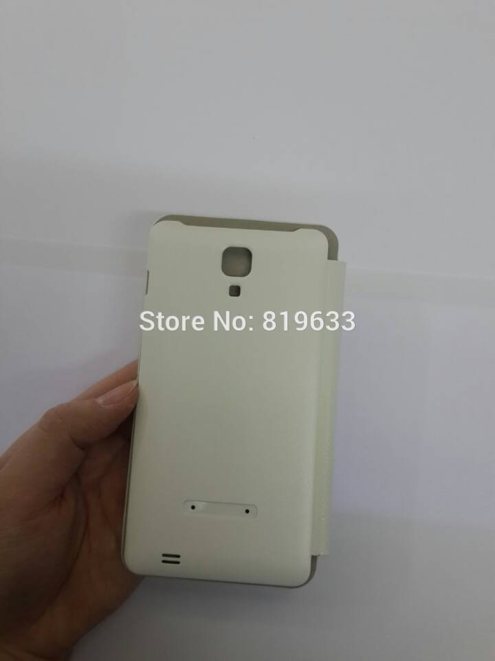 """2pcs Original protective Case Cover For 5.0"""" Star N9770 N9000 MTK6575 MTK6577 White Color Flip Leather Case Free Shipping(China (Mainland))"""