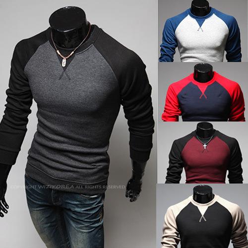 New 2015 Clothing Fashion T Shirt Men Sweatshirt Men's Sport Sportwear Cotton Long Sleeve Plus Size XXXL 3XL 8539()