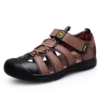 Мужские Genuone кожа кроссовки сандалии обувь новый 2015 летом на открытом воздухе ...
