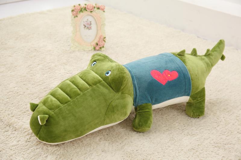 New Design Lover Crocodile Stuffed Plush Toys 60/80cm Alligator Pillow(China (Mainland))