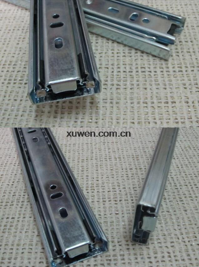 1 pair 3-fold Ball Bearing Telescopic Cabinet Drawer Slide Rails(China (Mainland))