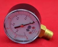 """2"""" 50mm brass bottom connect -1 bar -0.1 Mpa  vacuum pressure gauge,vacuum -30 in Hg,-76cmHg  manometer ,PT 1/4"""" thread"""