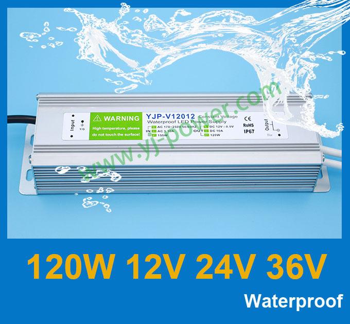 Импульсный блок питания YONGJIA POWER 12v 10a 120w 12 120 , 5a 24v 120 , ROHS, CE, IP67 YJP-V12012,YJP-V12024,YJP-V12036 блок питания 4parts lac hp03 hp 18 5v 6 5a 7 4x5 0mm 120w