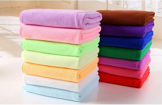 Home Accessories Bath Towel Cotton Polyester Towel For Universal People Solid Plain Quick-Dry bath Towel Beach Towel 140*70cm(China (Mainland))