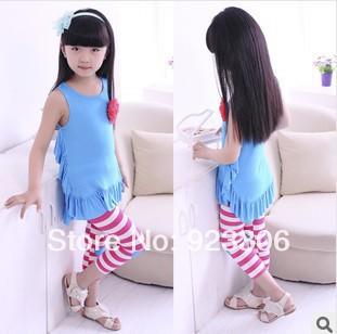 Леггинсы для девочек New brand 100pcs/lot fringe 28 Ninth pants brand new 2pcs lot 100
