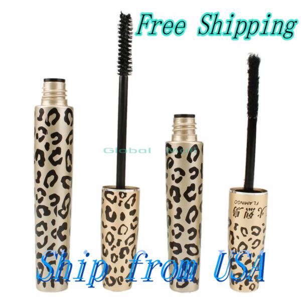 Ship From USA  Leopard Lash Expansion Natural Fiber Mascara Set 10005458 (China (Mainland))