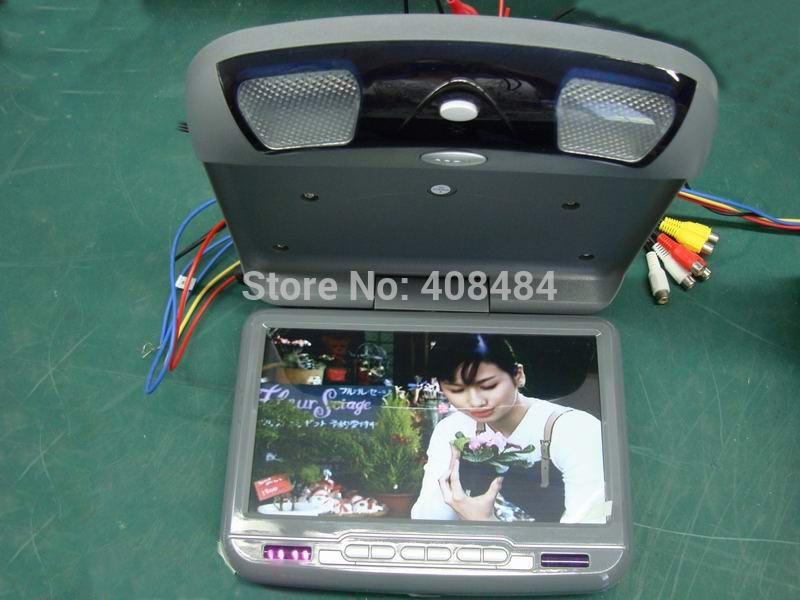 "9"" Flip Down Roof Mount Car DVD Player Monitor Digital Panel 800X480 Retail/Pc Free Shipping(China (Mainland))"