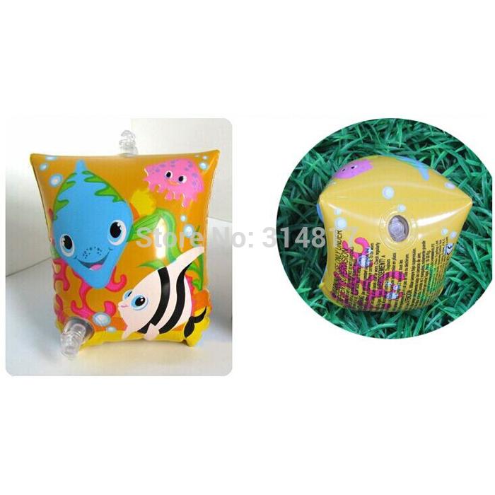 Childrens Armbands Kids Swim Floaties Floats Inflatable Fish Yellow [LL444](China (Mainland))