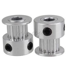 2pcs 2GT 16T 5mm Bore Aluminum Pulley for Kossel Delta 3D Printer Timing Belt