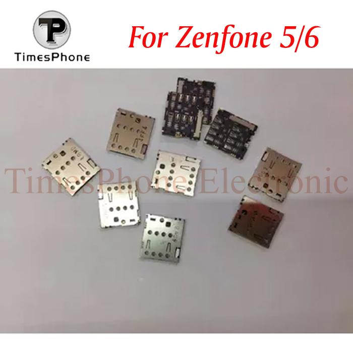 5pcs/lot New Zenfone5 SIM Card Reader Holder Connector Slot Tray Module For ASUS ZenFone 5 A500CG ZenFone 6 A600CG A601CG T00G