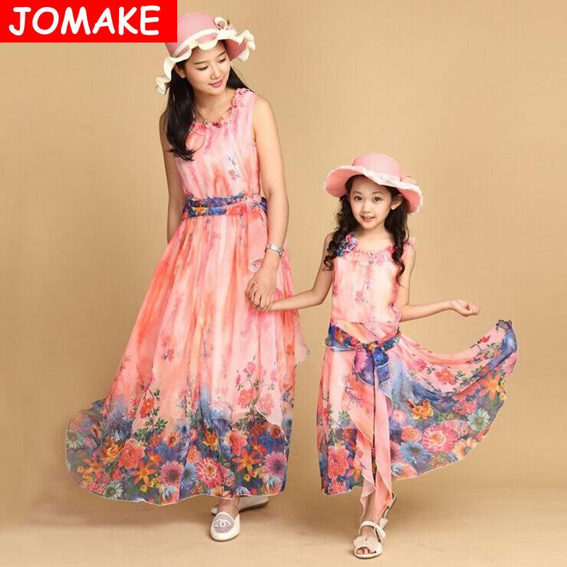 2015 New Children's Clothing Kids Dresses Baby Fashion Beach Dresses Girls Summer Sleeveless Flower Bohemian Chiffon Long Dress(China (Mainland))