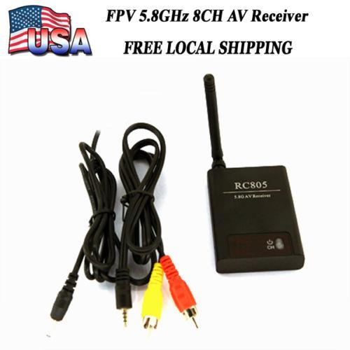 FPV 5.8GHz 8CH AV Receiver Video Audio Wireless TX Rx 5.8G AV Receiver RC805(China (Mainland))