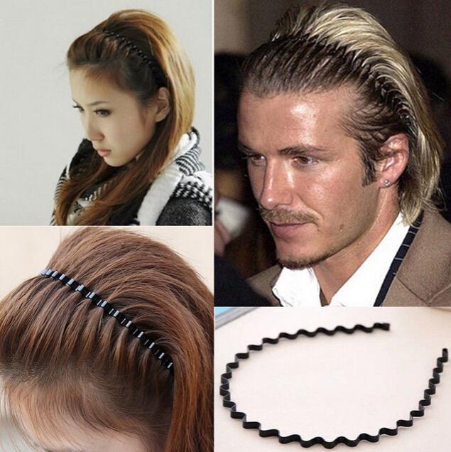 1PC Mens Women Unisex Black Wavy Hair Accessories Head Hoop Band Sport Headband Hairband Hairpins Styling ToolsNEW na471(China (Mainland))