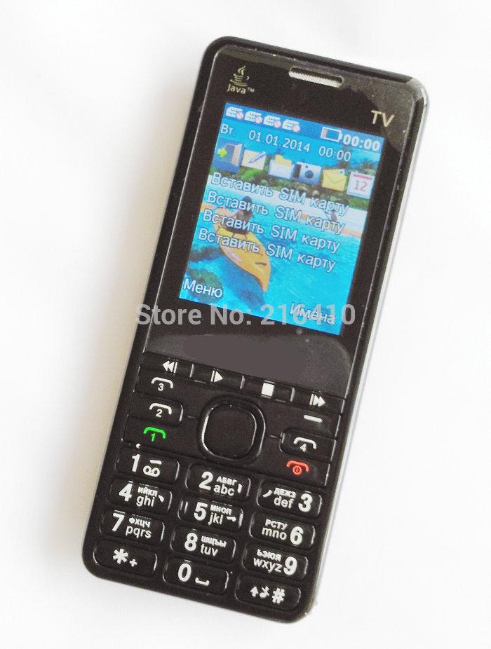 TV206 4 Sim Cards 4 Standby Slim Mobile Phone Analog TV Bluetooth Camera MP3 Russian Keyboard cell phone 2 TF card(China (Mainland))