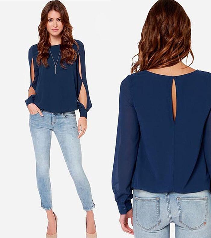 Женские блузки и Рубашки JINFENG 2015 AllMatch blusas femininas mujer JF25
