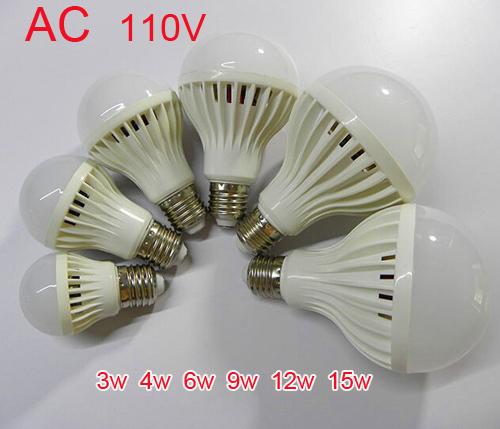 Bulb LED Super bright low energy consumption AC110V-130V E27 LED Lamp 3W 4W 5W 7W 9W 12W 15W Warm / White LED Light Spotlight(China (Mainland))