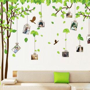 Big sticker Size 300*180cm DIY Life photos stickers tree Photo Wall stickers /Finish Free shipping(China (Mainland))