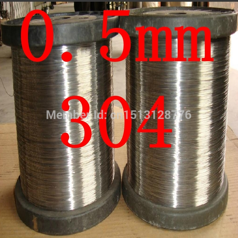 0.5mm diameter,hard condition,food grade,304,321,316 thread,cold rolled industry DIY stainless steel wire,(China (Mainland))