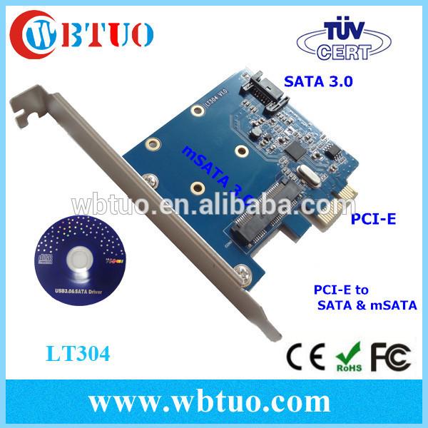 pci-e X1 adapter SATA3.0 msata mini pcie card(China (Mainland))