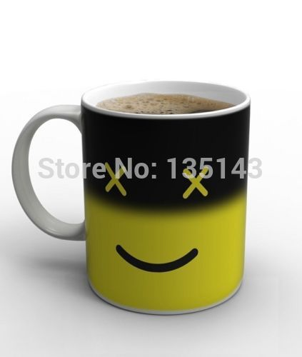 36X Magic Morning Mug Heat Sensitive Color Change Coffee Milk Mug Cup Gift Hot Tea Wholesale(China (Mainland))