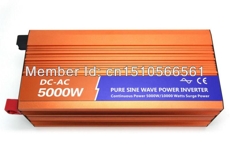 5kw 12V solar inverter, 12v to 220v pure sine wave inverter, 5kw off grid power inverter,2 years warranty(China (Mainland))