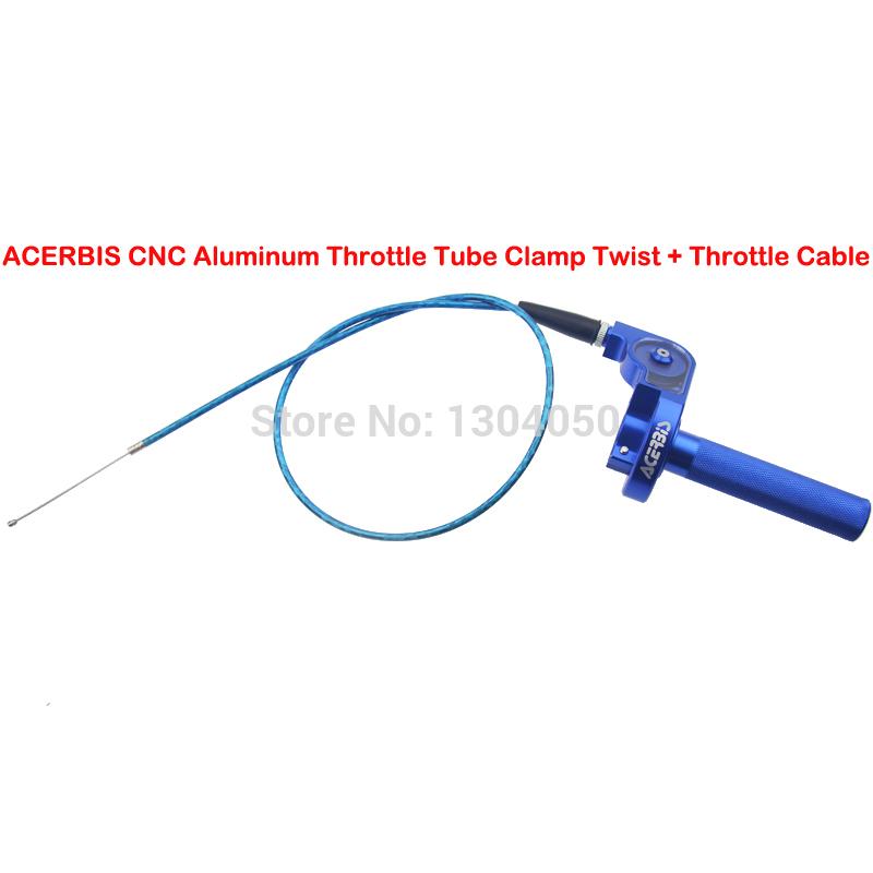Фрезерный станок с чпу 1/4 ACERBIS поворота дроссельной зажим трубки + кабель для YZ 100 125 250 м след велосипед CRF50 CRF70 CRF80 CRF100 CRF150 байк