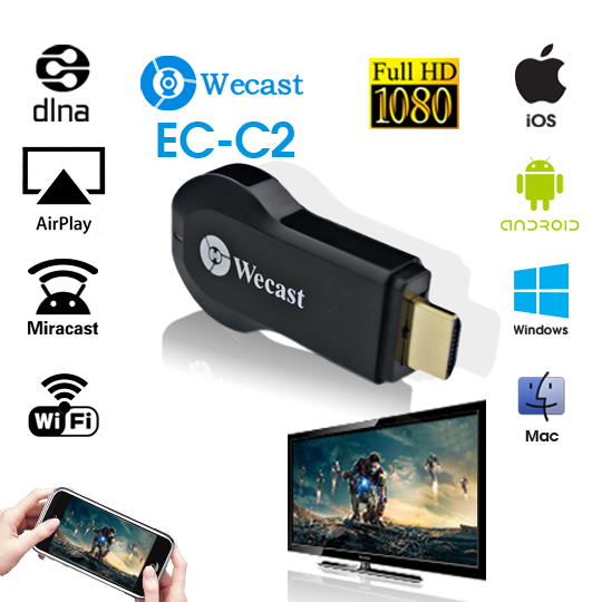 TV Stick Hong Ying EZCast Miracast Dongle Wifi Google Chromecast hdmi 1080p , Wecast ezcast m2 wireles hdmi wifi display dongle adapter tv stick receive andriod miracast dlna support ios android windows