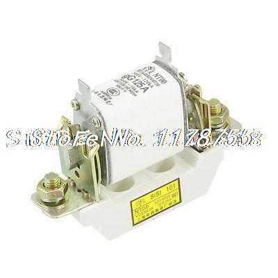 50A Blade Contact Fuse Link Base Holder NT00 125A 500V 50kA 660V 50kA(China (Mainland))