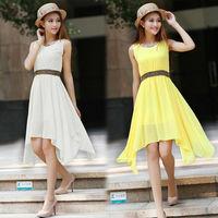 Casual Dress Vestidos Women Summer Dress Chiffon Tropical Fashion Solid Color Cheap Clothes China  American Apparel NZH099