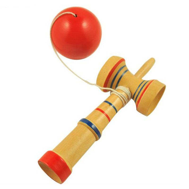 Kid Kendama Ball Japanese Traditional Wood Game Balance Skill Educational Toy FFY #50981(China (Mainland))