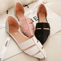 2015 Summer High Quality Leather Strap New Pointed Hollow Sandals Shoes Vintage Rome Women Shoes WF001