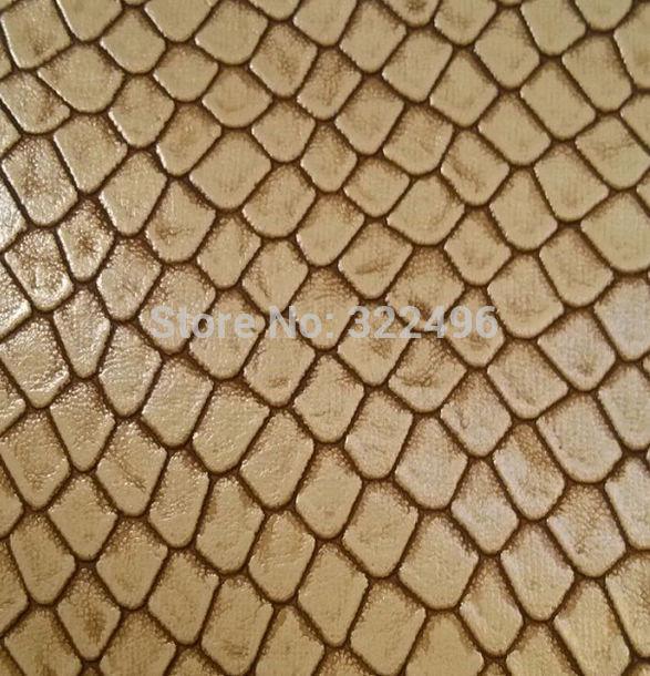 2015 new trend fashion synthetic snake pu leather fabric for handbag(China (Mainland))