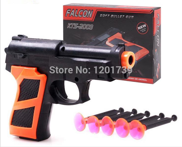 Free Shipping 5pcs Toy Gun Soft Bullet Gun Plasic Gun Toy For Kids,Cheap Price and High Quality Gift,With Original Box(China (Mainland))