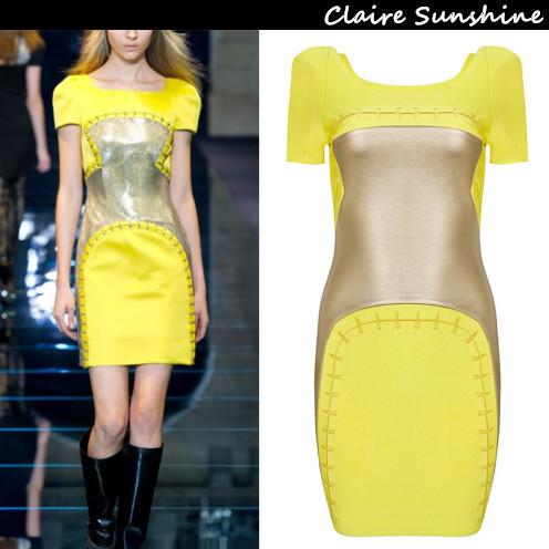 Maxi Dress Limited Sale 2015 Summer Vestido Dresswomen Sexy Short Sleeve Mini Style Fashion Patchwork Bodycon Celebrity Bandage(China (Mainland))