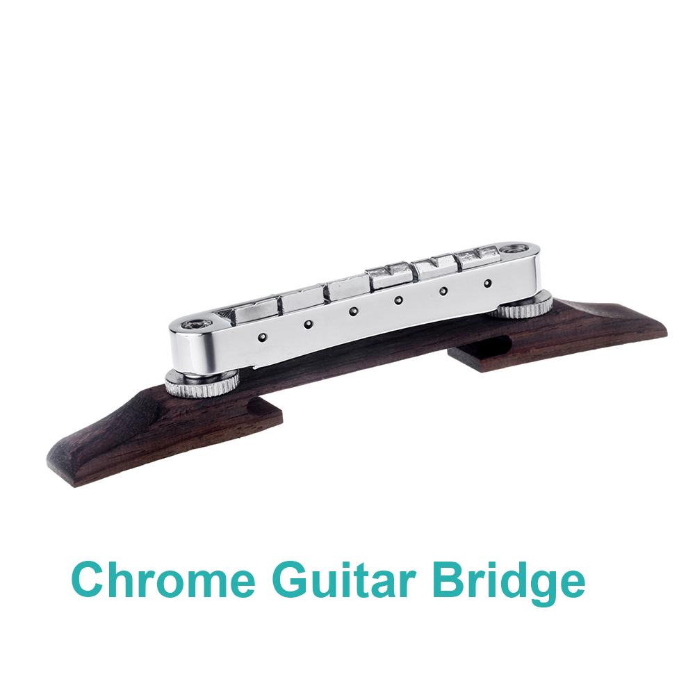 Good Durability Chrome Guitar Bridge Roller Saddle Metal Rosewood Adjustable Professional Guitar Accessories(China (Mainland))