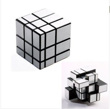 3x3x3 Mirror Blocks Silver Shiny Magic Cube Puzzle Brain Teaser IQ Kid Funny 1pc(China (Mainland))