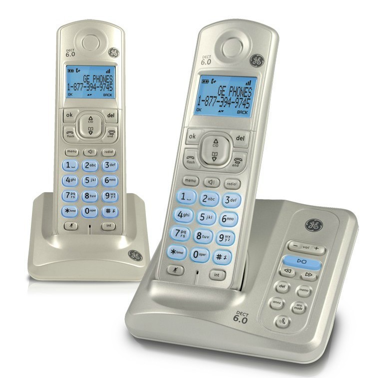 Cordless Dual Phone Ge28522 Dect 6 0 Wireless Telephone Set Dual Handsets Cordless Phone